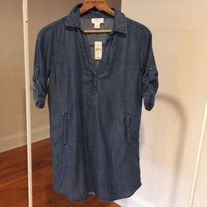 Ann Taylor Loft Outlet Lounge Chambray Shirtdress
